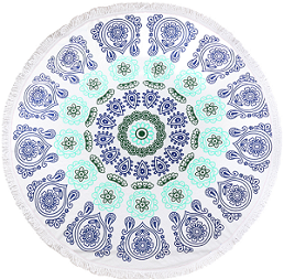 wholesaler compressed cotton round beach towel