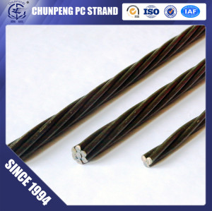 High Quality 1*7 12.7mm Prestressed Concrete Strand for Crane Beam