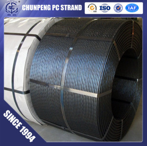 Hot sale ASTM A416 LRPC 15.2mm steel wire strand