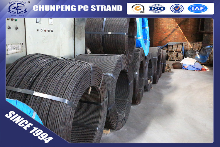 Low Relaxation 7 Wire 9.53mm PC Steel Strand for Prestressed Concrete