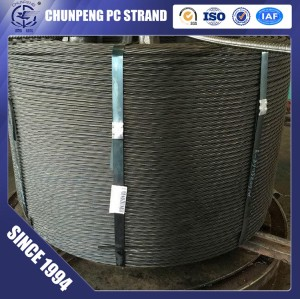 19 Wire 21.8mm PC Steel Strand for Post Tension Building