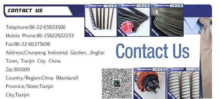metal building material High Tensile Spiral  PC Steel Wire 1770Mpa low relaxation pc steel wire