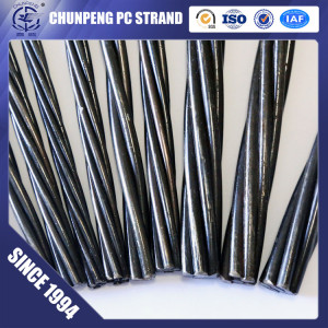 Low Relaxation 7 Wire 9.3mm Prestressed Concrete Strand