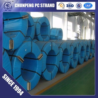 7 Wire 9.3mm 12.7mm Prestressed Concrete Strand with Tensile Strength 1860Mpa