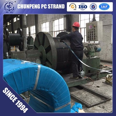 Post Tensioning PC Strand with Cheapest Price in China,  Dia 9.3mm, 9.53mm, 12.7mm, 12.5mm
