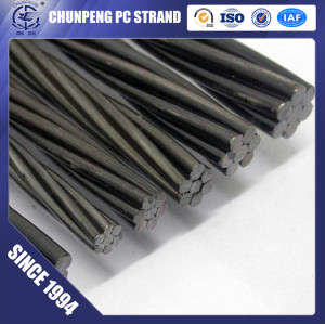 ASTM A416 High Quality 7 Wire 12.7mm Prestressed Concrete Strand for Roads and Bridges