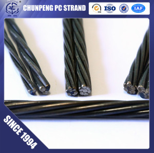 7 Wire Relaxation 9.3mm Prestressed Concrete Strand