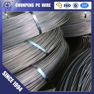 High Tensile Low Relaxation HT Wire Spiral Ribbed 7.0mm for Spun PC Pole