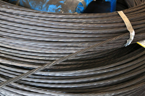 BS5896 1860mpa 12.5mm seven wire steel strand from Tianjin