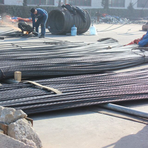 12.7mm 7 wire low relaxation prestressed concrete strand