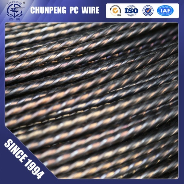 4.0-10mm 1470-1770Mpa high tensile low relaxation spiral pc wire concrete wire
