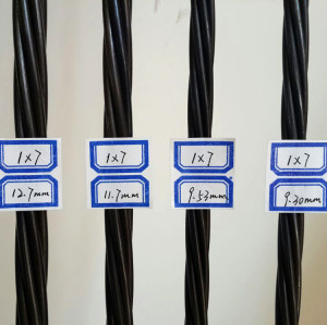 BS5896 LRPC 1860mpa prestressed tendon wire/bar from China