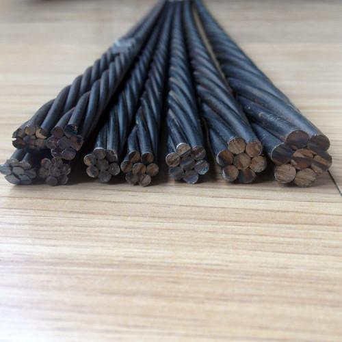 Factory price 270k 9.53mm 12.7mm prestressing steel strand