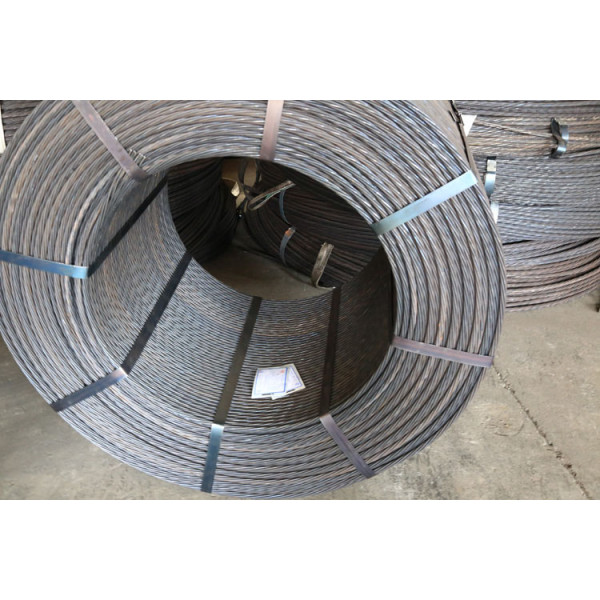7 wire 15.24mm high tension cable for prestresing strand structure