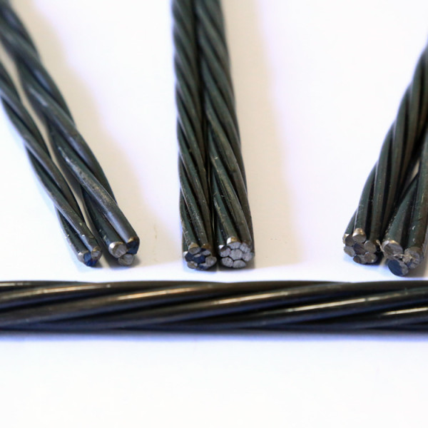 BS5896 1860mpa 2 wires prestressed concrete 4.5mm steel strand