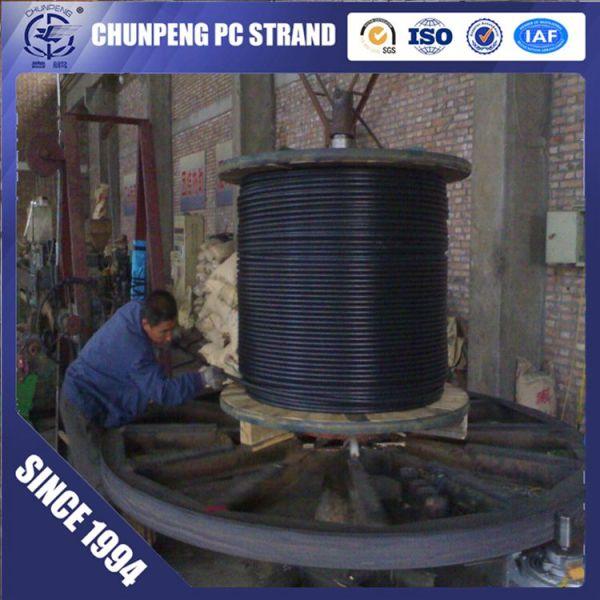 Building Construction Material 12.7mm Unbonded PC Strand for Precast Concrete
