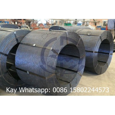 building materials 7 wire prestressing steel strand 12.7MM