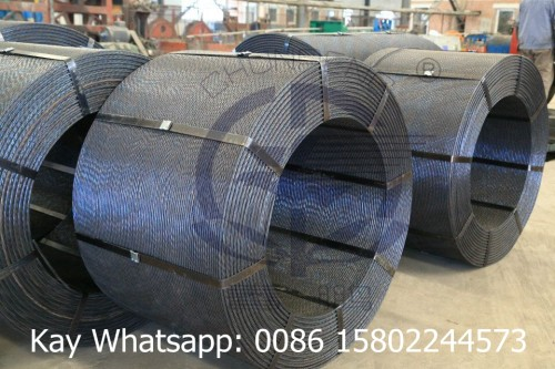 pc strand wire 12.7mm, high tension steel cable, post tensioning materials