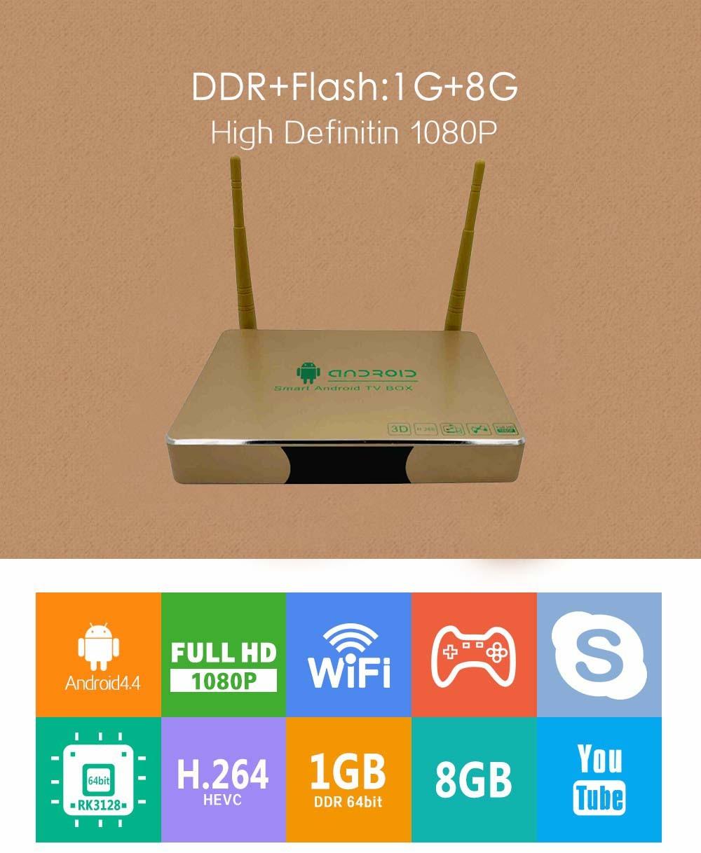 Sunshine intelligent OTT android TV box Quad Core 4K Tv Box