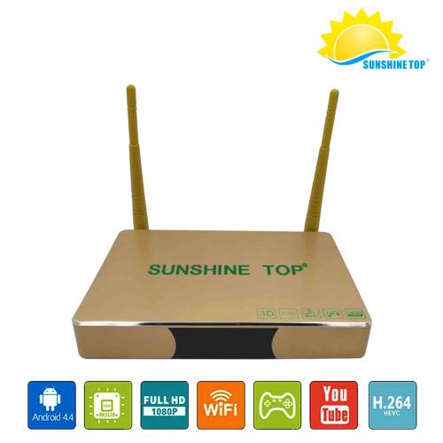 Sunshine intelligent OTT android TV box Quad Core 4K Tv Box Support UHD H.265 Wifi