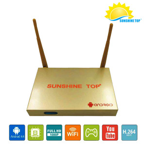 Sunshine ultra-fidelity OTT android TV box  support HDMI Wifi H.265 3D