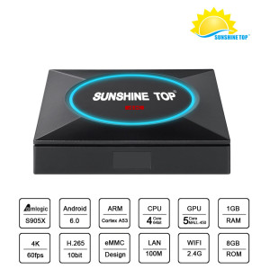 Octa core TV Box DDR 2G Flash 16G Andriod 7.1 Amlogic S912 4K Bluetooth en option OTT TV BOX