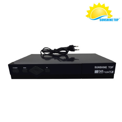كومبو DVB S2 + T2 كامل HD TV Box مع BISS ، powervu ، SUNSHINE TOP FACTORY مباشرة