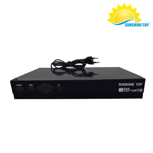كومبو DVB S2 + T2 كامل HD TV Box مع BISS ، powervu ، SUNSHINE TOP FACTORY مباشرة