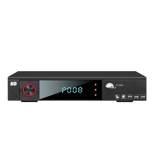 2018 تصميم جديد كامل HD DVB-S2 MPEG4 استقبال الأقمار الصناعية مجموعة فك التشفير