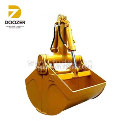 Double Cylinder Clamshell Grab Bucket For Cranes / Mud/ Gravel