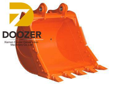 Ware-resistant Doosan R200 excavator bucket/ doosan rock bucket capacity / excavator bucket