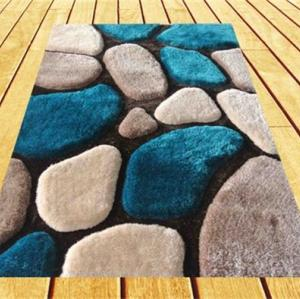 3D floor polyester shaggy carpet with modern design