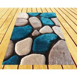 3D floor polyester shaggy carpet with modern design