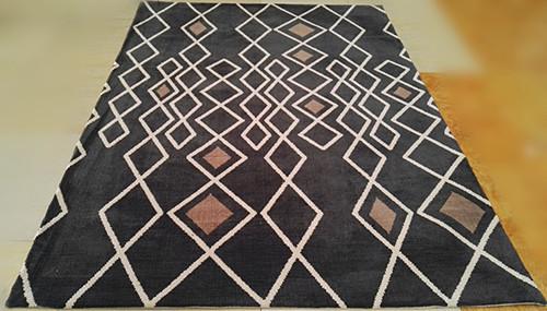 High Quality Modern Microfiber Jacquard Stripe Rugs