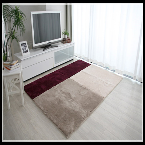 Microfiber polyester shaggy rugs living carpet and mat