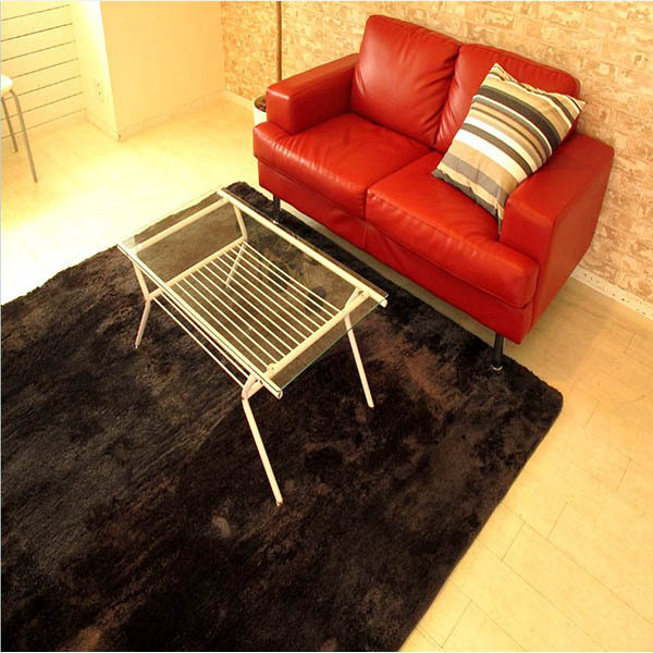 Hand Tufted Shaggy Carpet Polyester Comfort Rug