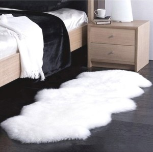 Home design carpets and rugs shaggy sheepskin rug for living