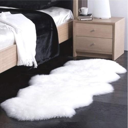 Home design carpets and rugs shaggy sheepskin rug for living