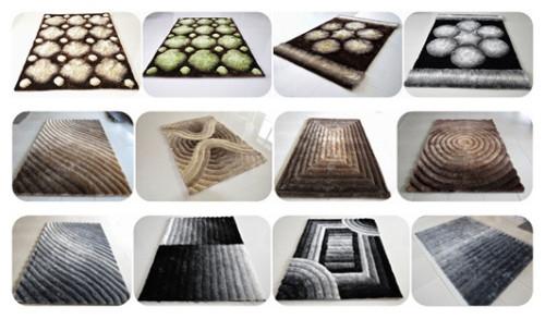 Wholesale Modern Design Polyester 3D Shaggy Carpet