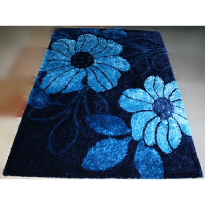 Customized Design modern design Polyester 3d Flower Shaggy Carpet