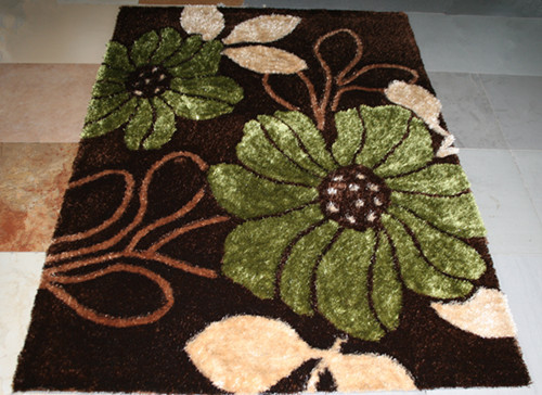 Customized Design modern design Polyester 3d Flower Shaggy Carpet