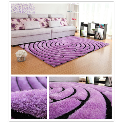 100% Polyester modern design 3D shaggy carpet/carpet rug for living room/bed room/decrative