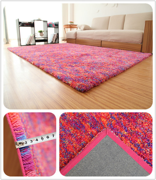 Home Style Soft Material Microfiber Polyester Space-dyed Carpets and Rugs