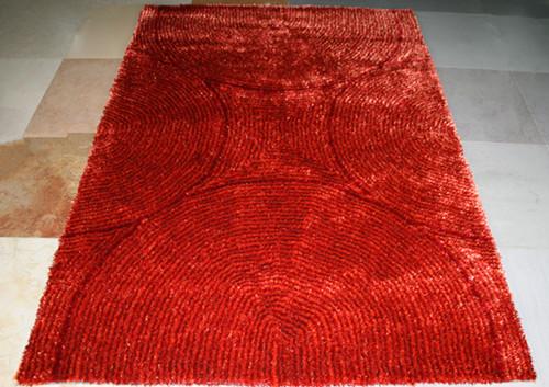 Modern decoration handtufted 1200D polyester silk carpet and rug