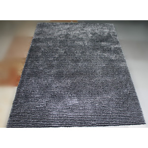 Home Style Soft Material Polyester Stripe Carpets and Rugs