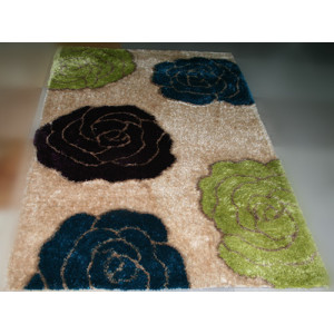 3d Design Shaggy Carpet Polyester Flower Pattern Rugs and Carpets