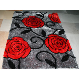 Most Popular Custom 3D Flower Shaped Shaggy Floor Carpet