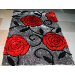 Most Popular Custom 3D Flower Shaped Shaggy Floor Carpet