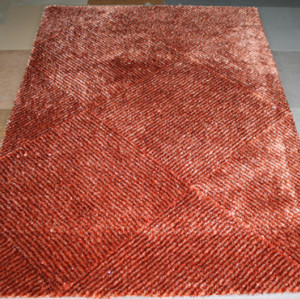 1200D silk 100% polyester plain shag rugs carpets by China suppliers