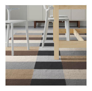 Wholesale Home Use polyester Jacquard Stripe Carpets
